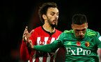 SOUTHAMPTON, ENGLAND - NOVEMBER 10: Manolo Gabbiadini of Southampton during the Premier League match between Southampton FC and Watford FC at St Mary's Stadium on November 10, 2018 in Southampton, United Kingdom. (Photo by Chris Moorhouse/Southampton FC via Getty Images)