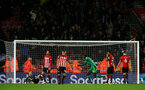 SOUTHAMPTON, ENGLAND - NOVEMBER 10: Southampton after conceding the equaliser during the Premier League match between Southampton FC and Watford FC at St Mary's Stadium on November 10, 2018 in Southampton, United Kingdom. (Photo by Chris Moorhouse/Southampton FC via Getty Images)