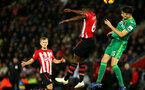 SOUTHAMPTON, ENGLAND - NOVEMBER 10: Michael Obafemi of Southampton during the Premier League match between Southampton FC and Watford FC at St Mary's Stadium on November 10, 2018 in Southampton, United Kingdom. (Photo by Chris Moorhouse/Southampton FC via Getty Images)