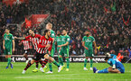 SOUTHAMPTON, ENGLAND - NOVEMBER 10: Manolo Gabbiadini of Southampton celebrates his goal during the Premier League match between Southampton FC and Watford FC at St Mary's Stadium on November 10, 2018 in Southampton, United Kingdom. (Photo by Chris Moorhouse/Southampton FC via Getty Images)