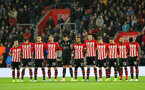 SOUTHAMPTON, ENGLAND - NOVEMBER 10: a minutes silence to mark rememberance Sunday during the Premier League match between Southampton FC and Watford FC at St Mary's Stadium on November 10, 2018 in Southampton, United Kingdom. (Photo by Matt Watson/Southampton FC via Getty Images)