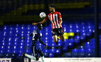 SOUTHEND, ENGLAND - NOVEMBER 14: Marcus Barnes of Southampton FC  (right) during the Checkatrade Trophy match between Southend United and Southampton FC U21s pictured at Roots Hall on November 14, 2018 in Southend, England. (Photo by James Bridle - Southampton FC/Southampton FC via Getty Images)