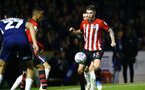 SOUTHEND, ENGLAND - NOVEMBER 14: Callum Slattery (right) of Southampton FC during the Checkatrade Trophy match between Southend United and Southampton FC U21s pictured at Roots Hall on November 14, 2018 in Southend, England. (Photo by James Bridle - Southampton FC/Southampton FC via Getty Images)