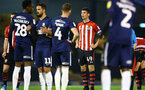 SOUTHEND, ENGLAND - NOVEMBER 14: Southampton FC Captain Thomas O'Connor (middle) during the Checkatrade Trophy match between Southend United and Southampton FC U21s pictured at Roots Hall on November 14, 2018 in Southend, England. (Photo by James Bridle - Southampton FC/Southampton FC via Getty Images)