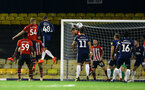 SOUTHEND, ENGLAND - NOVEMBER 14: Aaron OÕDriscoll (middle) during the Checkatrade Trophy match between Southend United and Southampton FC U21s pictured at Roots Hall on November 14, 2018 in Southend, England. (Photo by James Bridle - Southampton FC/Southampton FC via Getty Images) SOUTHEND, ENGLAND - NOVEMBER 14: Aaron O'Driscoll (middle) during the Checkatrade Trophy match between Southend United and Southampton FC U21s pictured at Roots Hall on November 14, 2018 in Southend, England. (Photo by James Bridle - Southampton FC/Southampton FC via Getty Images)