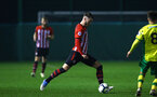 NORWICH, ENGLAND - NOVEMBER 23: Callum Slattery (middle) during the U23s PL2 match between Norwich City and Southampton FC pictured at Colney Training Ground on November 23, 2018 in Norwich, England. (Photo by James Bridle - Southampton FC/Southampton FC via Getty Images)