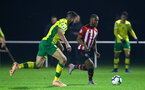 NORWICH, ENGLAND - NOVEMBER 23: Tyreke Johnson during the U23s PL2 match between Norwich City and Southampton FC pictured at Colney Training Ground on November 23, 2018 in Norwich, England. (Photo by James Bridle - Southampton FC/Southampton FC via Getty Images)
