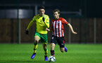 NORWICH, ENGLAND - NOVEMBER 23: Jake Vokins (right) during the U23s PL2 match between Norwich City and Southampton FC pictured at Colney Training Ground on November 23, 2018 in Norwich, England. (Photo by James Bridle - Southampton FC/Southampton FC via Getty Images)