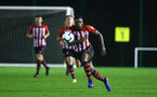 NORWICH, ENGLAND - NOVEMBER 23: Jonathan Afolabi (middle) during the U23s PL2 match between Norwich City and Southampton FC pictured at Colney Training Ground on November 23, 2018 in Norwich, England. (Photo by James Bridle - Southampton FC/Southampton FC via Getty Images)