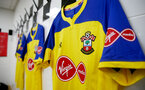 LONDON, ENGLAND - NOVEMBER 24: inside the dressing room of Southampton ahead of the Premier League match between Fulham FC and Southampton FC at Craven Cottage on November 24, 2018 in London, United Kingdom. (Photo by Matt Watson/Southampton FC via Getty Images)