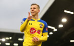 LONDON, ENGLAND - NOVEMBER 24: Matt Targett of Southampton during the Premier League match between Fulham FC and Southampton FC at Craven Cottage on November 24, 2018 in London, United Kingdom. (Photo by Matt Watson/Southampton FC via Getty Images)