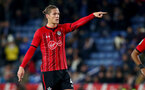 LEICESTER, ENGLAND - NOVEMBER 27: Jannik Vestergaard of Southampton during the Carabao Cup Fourth Round match between Leicester City and Southampton at The King Power Stadium on November 27th, 2018 in Leicester, England. (Photo by Matt Watson/Southampton FC via Getty Images)
