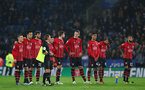 LEICESTER, ENGLAND - NOVEMBER 27: players of Southampton during the Carabao Cup Fourth Round match between Leicester City and Southampton at The King Power Stadium on November 27th, 2018 in Leicester, England. (Photo by Matt Watson/Southampton FC via Getty Images)