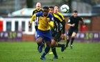 NOTTINGHAM, ENGLAND - NOVEMBER 28: Jonathan Afolabio during the Cup match between Notts County and Southampton at IIklestone Town FC on November 28, 2018 in Nottingham, England. (Photo by James Bridle - Southampton FC/Southampton FC via Getty Images)