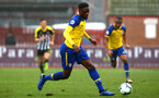 NOTTINGHAM, ENGLAND - NOVEMBER 28: Jonathan Afolabi during the Cup match between Notts County and Southampton at IIklestone Town FC on November 28, 2018 in Nottingham, England. (Photo by James Bridle - Southampton FC/Southampton FC via Getty Images)