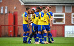 NOTTINGHAM, ENGLAND - NOVEMBER 28: Harry Hamblin scores (left) and celebtates with the team during the Cup match between Notts County and Southampton at IIklestone Town FC on November 28, 2018 in Nottingham, England. (Photo by James Bridle - Southampton FC/Southampton FC via Getty Images)