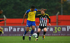 NOTTINGHAM, ENGLAND - NOVEMBER 28: Marcus Barnes (left) during the Cup match between Notts County and Southampton at IIklestone Town FC on November 28, 2018 in Nottingham, England. (Photo by James Bridle - Southampton FC/Southampton FC via Getty Images)