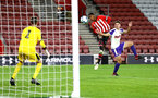 SOUTHAMPTON, ENGLAND - NOVEMBER 04: Kayne Ramsay (middle) during the U18's FA Youth Cup match between Southampton FC and Rotherham United pictured at St Mary's Stadium on December 4, 2018 in Southampton, England. (Photo by James Bridle - Southampton FC/Southampton FC via Getty Images)