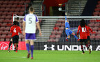 SOUTHAMPTON, ENGLAND - NOVEMBER 04: Jack Bycroft punches the ball over the bar during the U18's FA Youth Cup match between Southampton FC and Rotherham United pictured at St Mary's Stadium on December 4, 2018 in Southampton, England. (Photo by James Bridle - Southampton FC/Southampton FC via Getty Images)