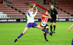 SOUTHAMPTON, ENGLAND - NOVEMBER 04: Will Ferry (middle) shoots during the U18's FA Youth Cup match between Southampton FC and Rotherham United pictured at St Mary's Stadium on December 4, 2018 in Southampton, England. (Photo by James Bridle - Southampton FC/Southampton FC via Getty Images)