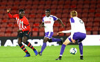 SOUTHAMPTON, ENGLAND - NOVEMBER 04: David Kpohomouh (left) during the U18's FA Youth Cup match between Southampton FC and Rotherham United pictured at St Mary's Stadium on December 4, 2018 in Southampton, England. (Photo by James Bridle - Southampton FC/Southampton FC via Getty Images)