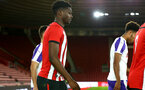 SOUTHAMPTON, ENGLAND - NOVEMBER 04: Allan TchaptChet ahead of Kick off for the U18's FA Youth Cup match between Southampton FC and Rotherham United pictured at St Mary's Stadium on December 4, 2018 in Southampton, England. (Photo by James Bridle - Southampton FC/Southampton FC via Getty Images)