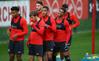 SOUTHAMPTON, ENGLAND - DECEMBER 06: Mario Lemina(R) during a Southampton FC training session at the Staplewood Campus on December 6, 2018 in Southampton, England. (Photo by Matt Watson/Southampton FC via Getty Images)