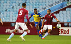 BIRMINGHAM, ENGLAND - DECEMBER 07: Jonathan Afolabi (middle) during the match between Aston Villa FC and Southampton FC pictured at Villa Park Stadium  on December 7, 2018 in Birmingham, England. (Photo by James Bridle - Southampton FC/Southampton FC via Getty Images)