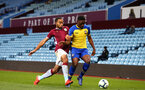 BIRMINGHAM, ENGLAND - DECEMBER 07: Jonathan Afolabi (right) during the match between Aston Villa FC and Southampton FC pictured at Villa Park Stadium  on December 7, 2018 in Birmingham, England. (Photo by James Bridle - Southampton FC/Southampton FC via Getty Images)