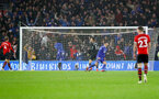 CARDIFF, WALES - DECEMBER 08: Cardiff score during the Premier League match between Cardiff City and Southampton FC at Cardiff City Stadium on December 8, 2018 in Cardiff, United Kingdom. (Photo by Matt Watson/Southampton FC via Getty Images)