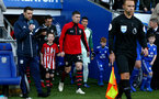 CARDIFF, WALES - DECEMBER 08: Pierre-Emile Hojbjerg of Southampton with the matchday mascot during the Premier League match between Cardiff City and Southampton FC at Cardiff City Stadium on December 8, 2018 in Cardiff, United Kingdom. (Photo by Matt Watson/Southampton FC via Getty Images)
