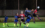 SOUTHAMPTON, ENGLAND - DECEMBER 11: LtoR Christoph Klarer, Marcus Barnes during the U23s Cup match between Southampton FC and West Ham United pictured at Staplewood Training Ground on December 11, 2018 in Southampton England. (Photo by James Bridle - Southampton FC/Southampton FC via Getty Images)