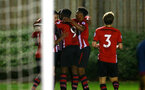 SOUTHAMPTON, ENGLAND - DECEMBER 11: Tyreke Johnson scores and celebrates during the U23s Cup match between Southampton FC and West Ham United pictured at Staplewood Training Ground on December 11, 2018 in Southampton England. (Photo by James Bridle - Southampton FC/Southampton FC via Getty Images)