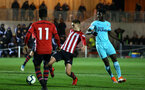 SOUTHAMPTON, ENGLAND - DECEMBER 14: Will Smallbone scores (middle) during the U23s Cup match between Southampton FC and Newcastle United pictured at Staplewood Training Ground on December 14, 2018 in Southampton England. (Photo by James Bridle - Southampton FC/Southampton FC via Getty Images)