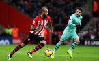 SOUTHAMPTON, ENGLAND - DECEMBER 16: Nathan Redmond during the Premier League match between Southampton FC and Arsenal FC at St Mary's Stadium on December 15, 2018 in Southampton, United Kingdom. (Photo by Chris Moorhouse/Southampton FC via Getty Images)