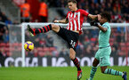 SOUTHAMPTON, ENGLAND - DECEMBER 16: Jan Bednarek during the Premier League match between Southampton FC and Arsenal FC at St Mary's Stadium on December 15, 2018 in Southampton, United Kingdom. (Photo by Chris Moorhouse/Southampton FC via Getty Images)