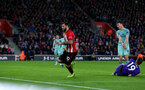 SOUTHAMPTON, ENGLAND - DECEMBER 16: Charlie Austin of Southampton during the Premier League match between Southampton FC and Arsenal FC at St Mary's Stadium on December 15, 2018 in Southampton, United Kingdom. (Photo by Matt Watson/Southampton FC via Getty Images)