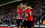 SOUTHAMPTON, ENGLAND - DECEMBER 16: Danny Ings of Southampton celebrates during the Premier League match between Southampton FC and Arsenal FC at St Mary's Stadium on December 15, 2018 in Southampton, United Kingdom. (Photo by Matt Watson/Southampton FC via Getty Images)