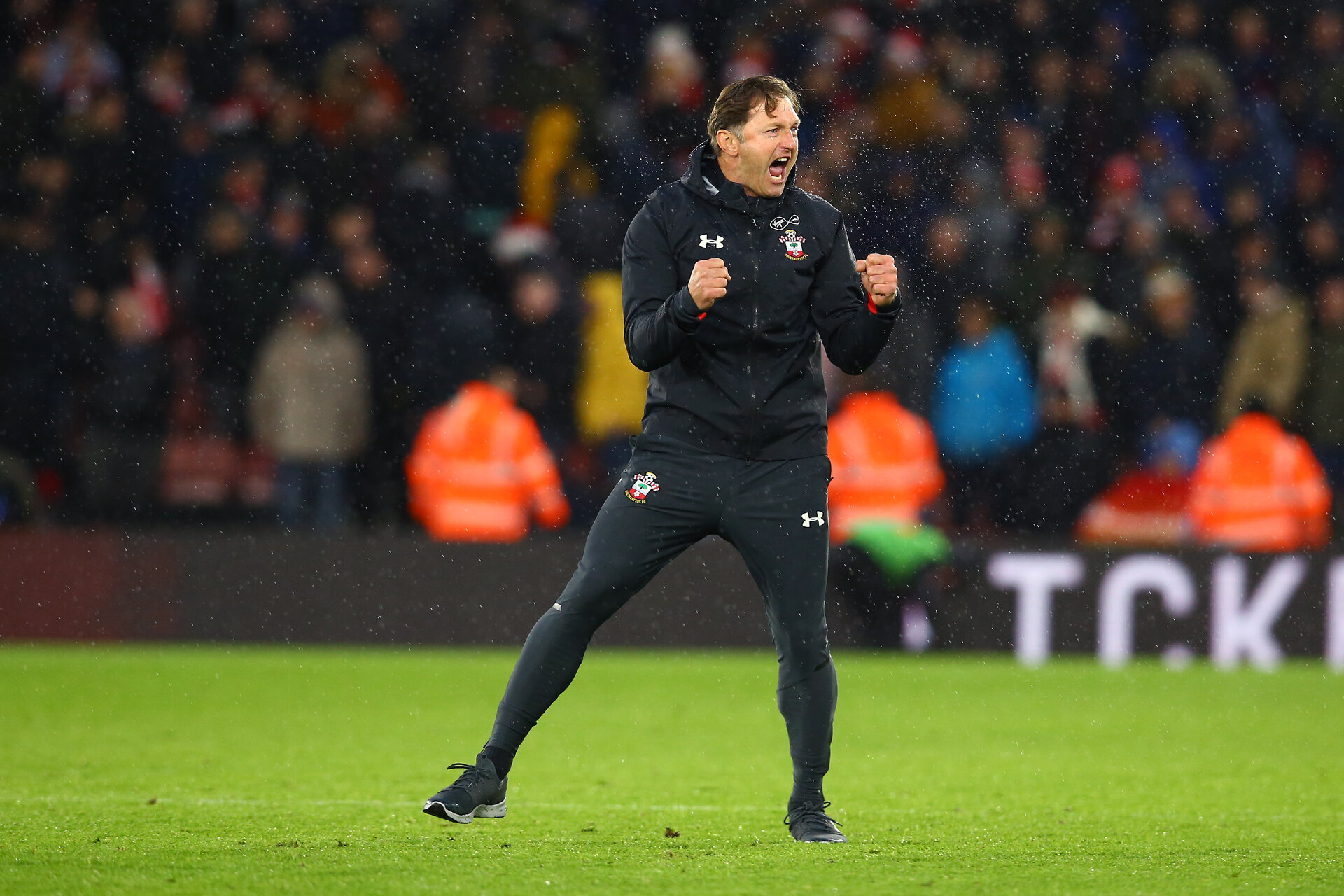 SOUTHAMPTON, ENGLAND - DECEMBER 16: New Southampton FC manager Ralph Hasenhuttl after the final whistle is blown during the Premier League match between Southampton FC and Arsenal FC at St Mary's Stadium on December 16, 2018 in Southampton, United Kingdom. (Photo by James Bridle - Southampton FC/Southampton FC via Getty Images)