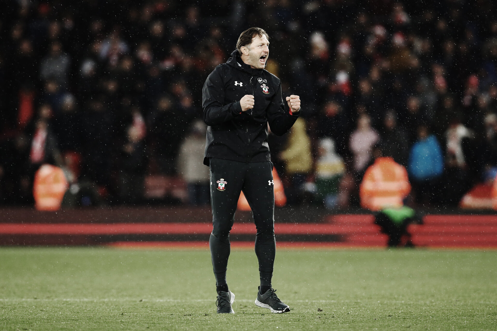 SOUTHAMPTON, ENGLAND - DECEMBER 16: Ralph Hasenhuttl during the Premier League match between Southampton FC and Arsenal FC at St Mary's Stadium on December 16, 2018 in Southampton, United Kingdom. (Photo by James Bridle - Southampton FC/Southampton FC via Getty Images)
