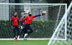 SOUTHAMPTON, ENGLAND - DECEMBER 19: Fraser Forster (middle) during a training session at Staplewood Complex on December 19, 2018 in Southampton, England. (Photo by James Bridle - Southampton FC/Southampton FC via Getty Images)