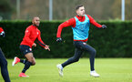 SOUTHAMPTON, ENGLAND - DECEMBER 19: Jan Bednarek (right) during a training session at Staplewood Complex on December 19, 2018 in Southampton, England. (Photo by James Bridle - Southampton FC/Southampton FC via Getty Images)