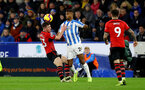 HUDDERSFIELD, ENGLAND - DECEMBER 22:  Pierre-Emile Hojbjerg(L) of Southampton during the Premier League match between Huddersfield Town and Southampton FC at John Smith's Stadium on December 22, 2018 in Huddersfield, United Kingdom. (Photo by Matt Watson/Southampton FC via Getty Images)