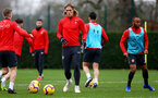 SOUTHAMPTON, ENGLAND - DECEMBER 25: Jannik Vestergaard during a Southampton FC training session at the Staplewood Campus on December 25, 2018 in Southampton, England. (Photo by Matt Watson/Southampton FC via Getty Images)