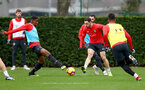 SOUTHAMPTON, ENGLAND - DECEMBER 25: Kayne Ramsay(L) and Danny Ings during a Southampton FC training session at the Staplewood Campus on December 25, 2018 in Southampton, England. (Photo by Matt Watson/Southampton FC via Getty Images)