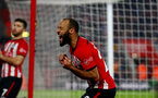 SOUTHAMPTON, ENGLAND - DECEMBER 27:  Nathan Redmond of Southampton shows his frustration during the Premier League match between Southampton FC and West Ham United at St Mary's Stadium on December 27, 2018 in Southampton, United Kingdom. (Photo by Matt Watson/Southampton FC via Getty Images)
