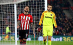 SOUTHAMPTON, ENGLAND - DECEMBER 27:  Danny Ings(L) of Southampton during the Premier League match between Southampton FC and West Ham United at St Mary's Stadium on December 27, 2018 in Southampton, United Kingdom. (Photo by Matt Watson/Southampton FC via Getty Images)