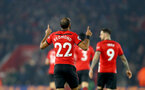 SOUTHAMPTON, ENGLAND - DECEMBER 27:  Nathan Redmond of Southampton celebrates during the Premier League match between Southampton FC and West Ham United at St Mary's Stadium on December 27, 2018 in Southampton, United Kingdom. (Photo by Matt Watson/Southampton FC via Getty Images)