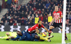 SOUTHAMPTON, ENGLAND - DECEMBER 27:  Nathan Redmond scores during the Premier League match between Southampton FC and West Ham United at St Mary's Stadium on December 26, 2018 in Southampton, United Kingdom. (Photo by Chris Moorhouse/Southampton FC via Getty Images)