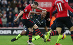 SOUTHAMPTON, ENGLAND - DECEMBER 30: Pierre-Emile Hojbjerg during the Premier League match between Southampton FC and Manchester City at St Mary's Stadium on December 29, 2018 in Southampton, United Kingdom. (Photo by Chris Moorhouse/Southampton FC via Getty Images)